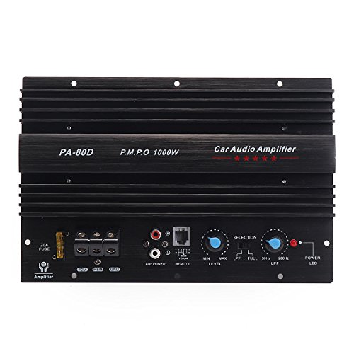 1000W Mono Car Audio Power Amplifier Powerful Bass Subwoofers Amp 30Hz~280Kz