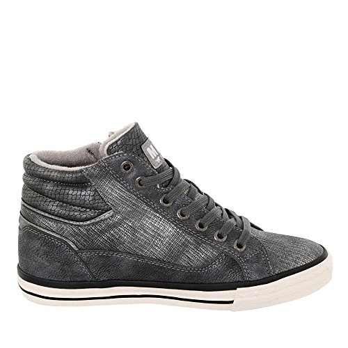 Sneaker High Top Da Donna Mustang Grigio Grigio (grigio Scuro)