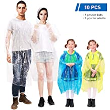 Bekleidung COM-FOUR® 4x Einweg Regenponcho Notfallponcho Poncho mit Kapuze in vier Farben Angelsport