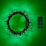 50er LED Lichterkette grün grünes Kabel Timer Innen Außen Lights4fun