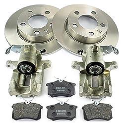 2x Bremssattel + Bremsscheiben + Bremsbeläge hinten NB PARTS GERMANY 10069776