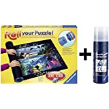 Pack Puzzle Roll Ravensburger 17956. Tapete universal para transportar/guardar puzzles + pegamento/conserver