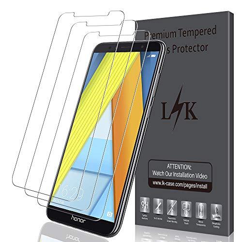 LK [3 Pack] Schutzfolie für Huawei Honor 7A, LK Gehärtetem Glas Panzerglasfolie Hartglas Bildschirmschutzfolie mit Lebenslange Ersatzgarantie