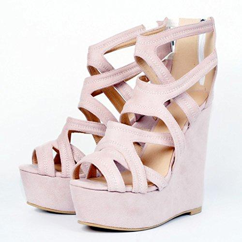 Kolnoo , Hi-Top Slippers femme rose bonbon