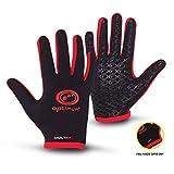 OPTIMUM Multi X - Guanti Completi, da Rugby, Calcio, Hockey, Escursionismo, Uomo, Multi X, Black/Red, S