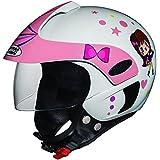 Studds Marshall D1 Open Face Helmet (Girl's, White N8, XS)