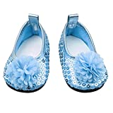 Ndier Glitter Doll Shoes Shoes Dress Dress For 18 Inch Our American Girl Doll 1 Pair Blue