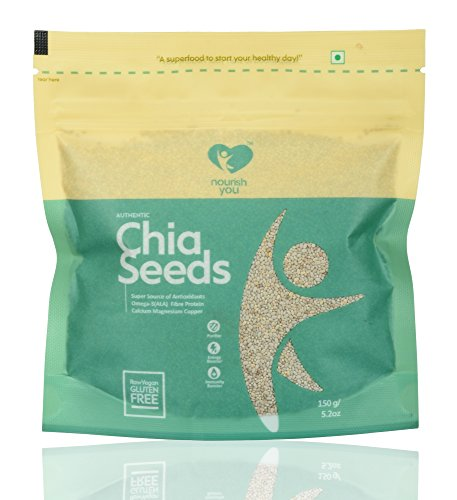 Nourish You Authentic White Chia Seeds, 150g  available at amazon for Rs.268