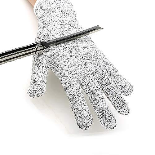 Yxmxxm guanti resistenti al taglio | protezione di livello 5 | guanti da taglio di sicurezza per ostrica shucking/intaglio del legno/macellazione/taglio di carne (5 paia),s