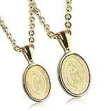 FWZLBC Edelstahl Paar Halskette, europäischen und amerikanischen Titan Stahl Schmuck, Gold weibliche Modelle sowie passende Kette