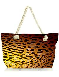 Snoogg Leopard Print Women Anchor Messenger Handbag Shoulder Bag Lady Tote Beach Bags Blue