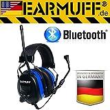 """'Bluetooth originale """"Earmuff–Extra Robusto Radio la protezione dell' udito Cuffie con connettore per Smartphone"""