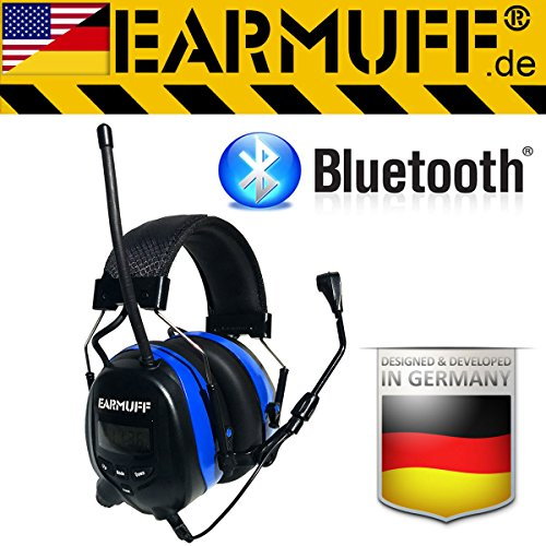 "BLUETOOTH Original ""EARMUFF"" - Extra robuster Radio Kapsel Gehörschutz Kopfhörer mit SmartPhone Anschluss"