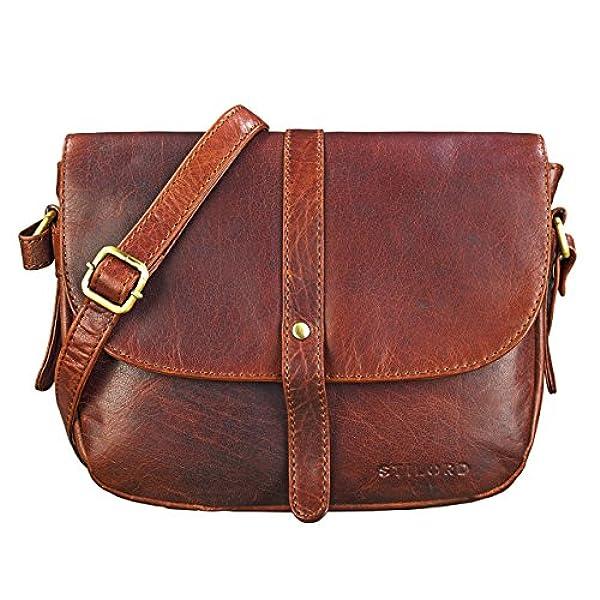 d05d10240b9 Ofertas para comprar online Bolso de mano Stilord ('Kira' mujeres piel  vintage bolsa bandolera pequeño para fiesta tiempo libre de cuero  auténtico, ...