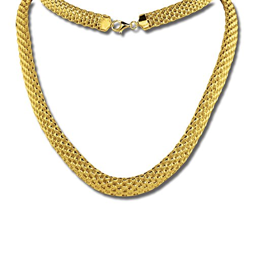 SilberDream Geflecht Collier silber gold 45cm 925 Silber vergoldet SDK22045Y