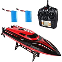 Price comparsion for SainSmart Jr. RC Boat Speed Boat RC Radio Control High Speed Racing Boat, boat 4CH 2.4GHz Radio Controlled Boat Racing Boot for Beginners and Children