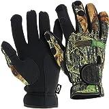 NGT neopreno pesca caza Split dedo guantes de invierno, Neopreno, Unisex, color camuflaje, tamaño extra-large