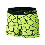Nike pro beinkleid 3'girafe short pour femme jaune fluo xL 683541–702