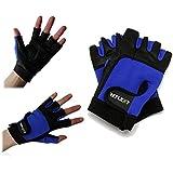 reflext rembourré en cuir véritable Mitaines gants d'entraînement pour haltérophilie/Cyclisme/Aviron/Gym Rouge/Noir...