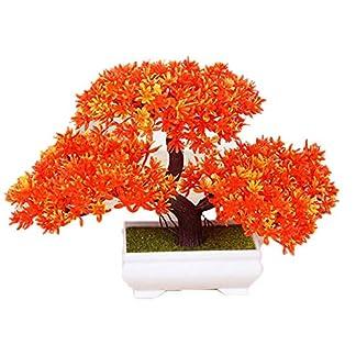DHASJ Plantas Artificiales, simulación de Madera de Pino Verde, decoración para el hogar, Sala de Estar, decoración de Flores Artificiales, árbol de Acacia/Planta Verde en Maceta