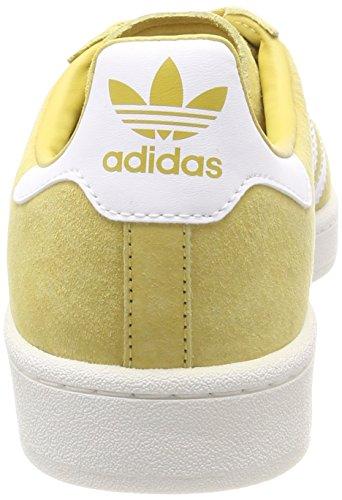 adidas Campus, Chaussures de Basketball Homme Jaune (Pyrite/ftwr White/chalkwhite)
