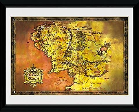 GB Eye LTD, Le Seigneur des anneaux, Tierra Media, Photographie encadrée 30 x 40 cm