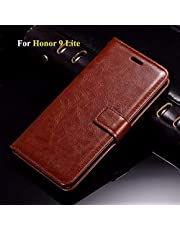 Thinkzy HO13-LE2 Flip Cover for Honor 9 Lite (Brown)