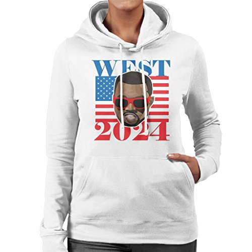 Cloud City 7 Kanye West 2024 President Women\'s Hooded Sweatshirt