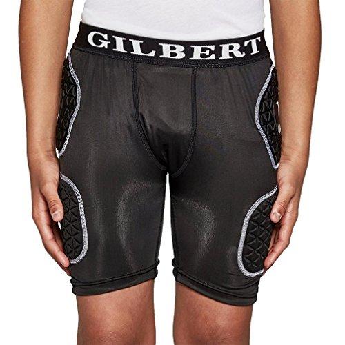 Gilbert Junior Schutz Rugby Shorts, Schwarz, L