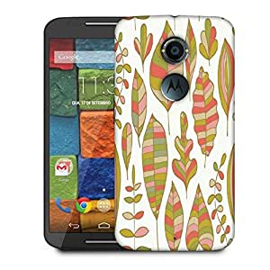 Snoogg Colorful Leaves White Designer Protective Phone Back Case Cover For Moto X 2nd Generation