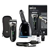 Braun Series 3 ProSkin 3090cc Elektrischer Rasierer (mit Reinigungs- und Ladestation clean & charge, wiederaufladbarer Rasierapparat, Elektrorasierer) schwarz/grau