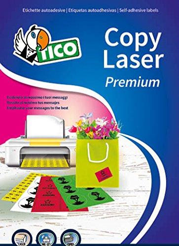 Tico LP4FV-4725 Etichette,9 Angoli Arrotondati, 70 FF, 47.5 x 25.5, Verde