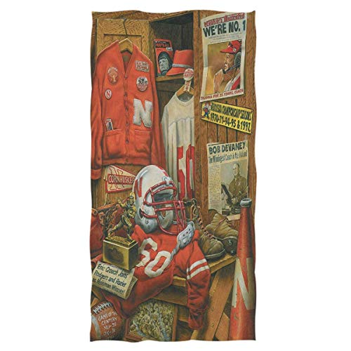 Vintage American Football Hand Bath Towels Ultra Soft Bath Towel Retro Nebraska Football Team Absorbent Hand Bath Towel Guest Bath Bath Towels Washcloth Multipurpose for Hand Face Gym Spa -