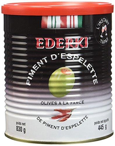 Ederki Olives Farcies au Piment d'Espelette Boîte 4/4 - Lot de 3