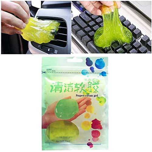 Tastatur Reinigung Gel, 1 Stück Universal Staubreiniger Reinigen Keyboard Cleaner Gel für PC Tablet Laptop-Tastaturen, Lüftungsschlitze, Kameras, Drucker, Taschenrechner, 75 g, zufällige Farbe