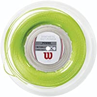Wilson Synthetic Gut Power 16 LI Reel Bobina Cordaje de Tenis, Unisex Adulto, Verde (Green), Talla Única