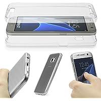 URCOVER® 360 Grad Case Cover Protettiva | Custodia Samsung Galaxy S6 | Silicone TPU in Trasparente | Protezione Schermo Trasparente Ultrasottile Back Antigraffio Screen Protector