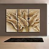 WXD arte de la lona estirada pintura de la decoración de pan de oro juego de 3