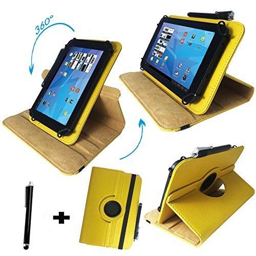 Xoro TelePAD 10A3 4G 32GB 10.1 Zoll Drehbare Tablet Schutztasche mit Standfunktion + Touch Pen – Gelb 10.1 Zoll 360