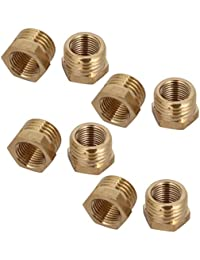Tradico® 1/4BSP Male X 1/8BSP Female Thread Brass Hex Bushing Pipe Fitting 8pcs