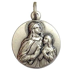925 Sterling Silber Medaille des heiligen Anna – Patronin von Schwangeren Frauen und Kindern