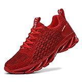 TAIZHOU Uomo Donna Scarpe da Ginnastica Corsa Sportive Fitness Running Sneakers Basse Interior Casual all'Aperto(40EU,Red)