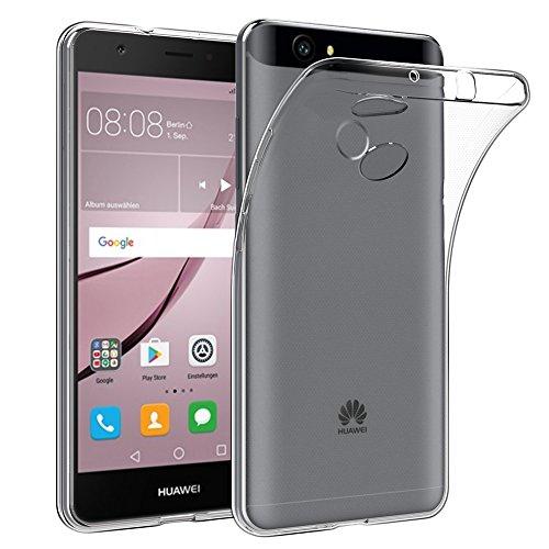 EasyAcc Huawei Nova Custodia, Huawei Nova 5.0'' Morbido TPU Custodia Cover Cristallo limpido Trasparente Slim Anti Scivolo Custodia Protezione Posteriore Cover Antiurto per Huawei Nova