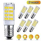 Elfeland 6x E14 LED Lampen LED Mais Glühbirne 3.5W Ersatz für 35W Halogenlampen led Glühlampen Warmweiß 3000K 330LM 360 ° Strahlwinkel nicht dimmbar Birnen für Deckenlampen, Wandlampen, Tischlampen