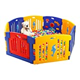 Plastic Baby Playpen Activity panel 8 Sides without Mats