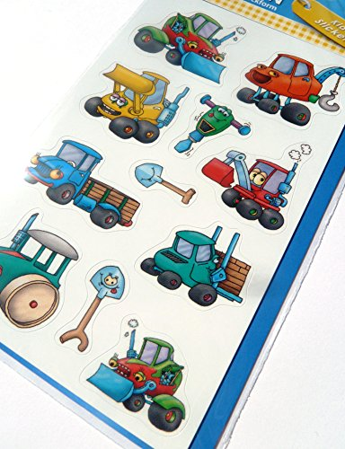 Digger Stickers childrens card making decoration labels for kids 53705