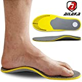 Best High Arch Inner Soles - Ailaka Orthotic Cushioning Arch Support Shoe Insole, Unisex Review