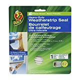 Duck Brand 282439 Heavy Duty Self-Adhesive Rubber Weatherstrip Seal for Small Gap, 3/8-Inch x 1/4-Inch x 17-Feet