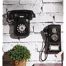 Continental antiguo Colgante Teléfono Vintage Industrial decoración de pared decorativos colgantes