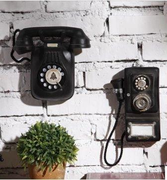 Teléfono de pared Continental, de estilo vintage industrial, para decoración